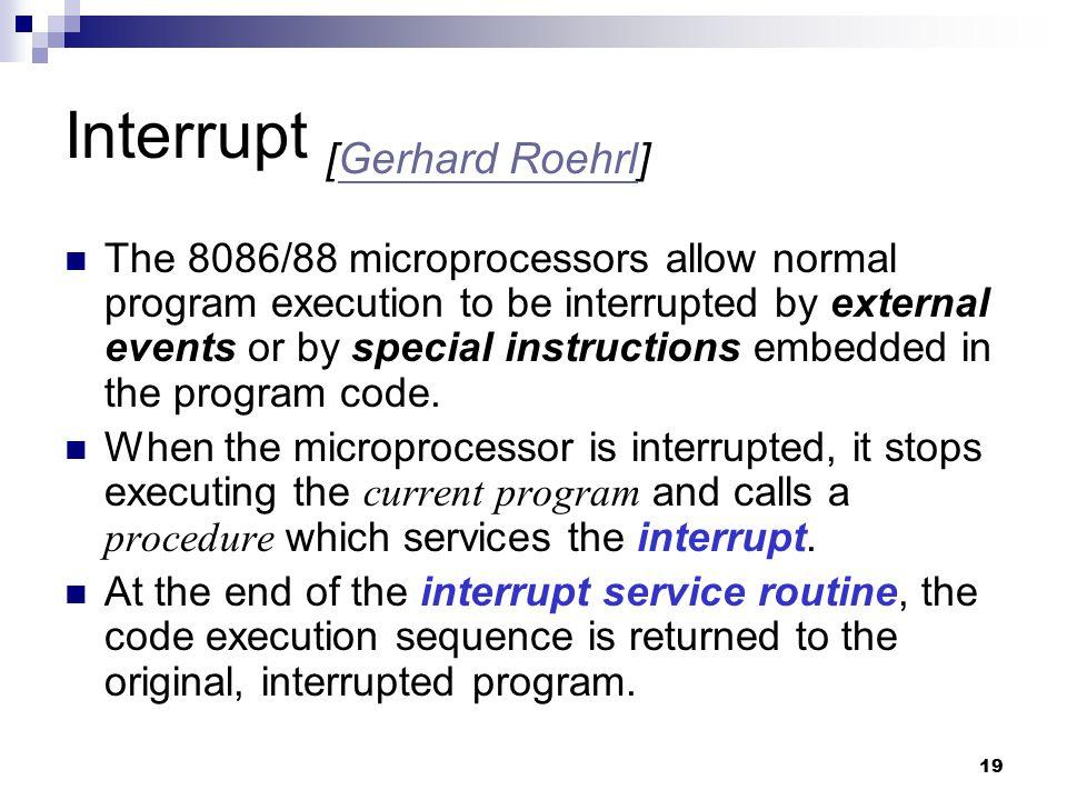 Interrupt [Gerhard Roehrl]